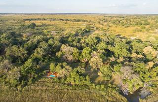 Camp Moremi Aerial View
