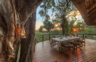 Camp Moremi Outdoor Dining