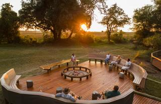 Camp Moremi Open Air Fire Deck