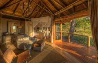 Camp Moremi Guest Room Interior