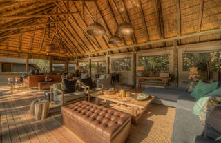 Camp Moremi guest lounge area