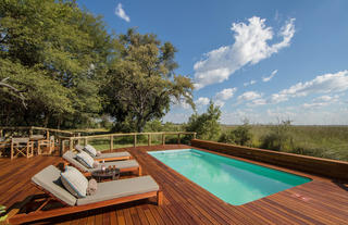 Camp Moremi guest pool