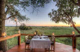 Private dinning with exceptional view