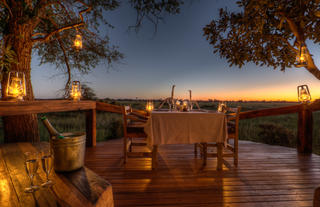 Private dinner with magical sunsets over the delta