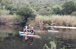 SUPing in the Keurbooms nature reserve by Hog Hollow
