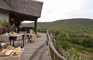 View from the main lodge's deck over the Great Fish River