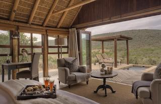 All rooms are en-suite with private decks, plunge pools, outdoor showers and magnificent views