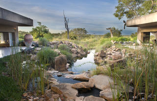 Earth Lodge Water Feature