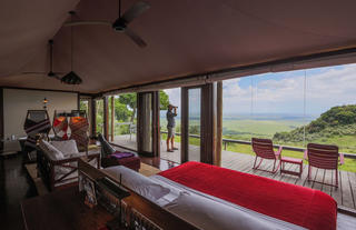 Angama Mara's tented suite