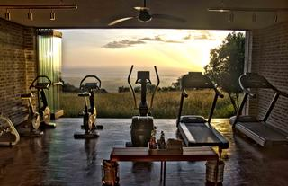 Fitness Room with a view