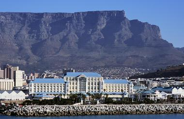 Table Bay Hotel with Table Mountain in the background