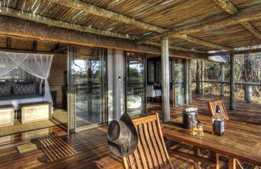 Private decks, a combined bedroom and lounge area and en suite facilities