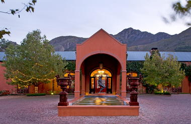 The Beautiful Entrance and port cochure at La Residence