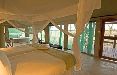 Puku Ridge Camp tented room